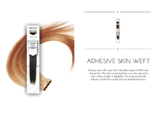 Bohyme Adhesive Skin Weft - Silky Straight - 18""